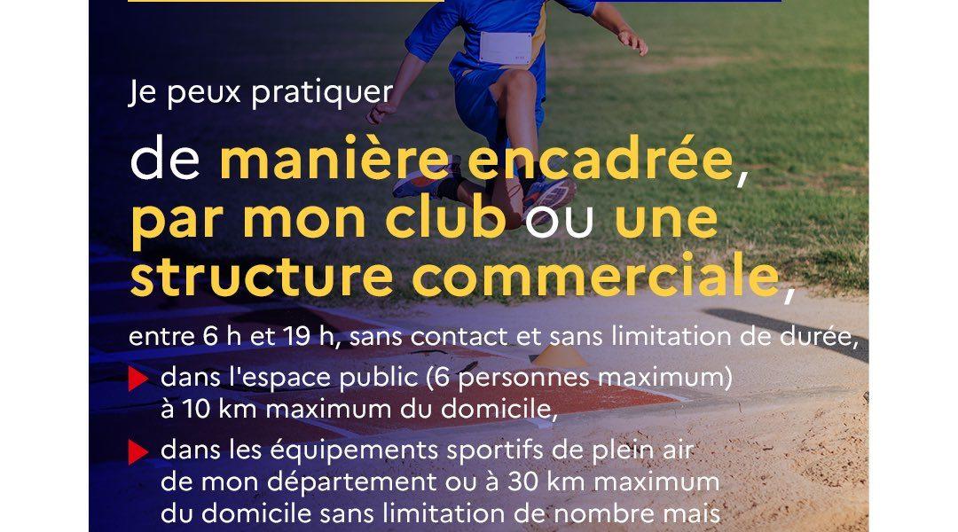 Nouvelles directives liées au sport – actualisation 8 avril